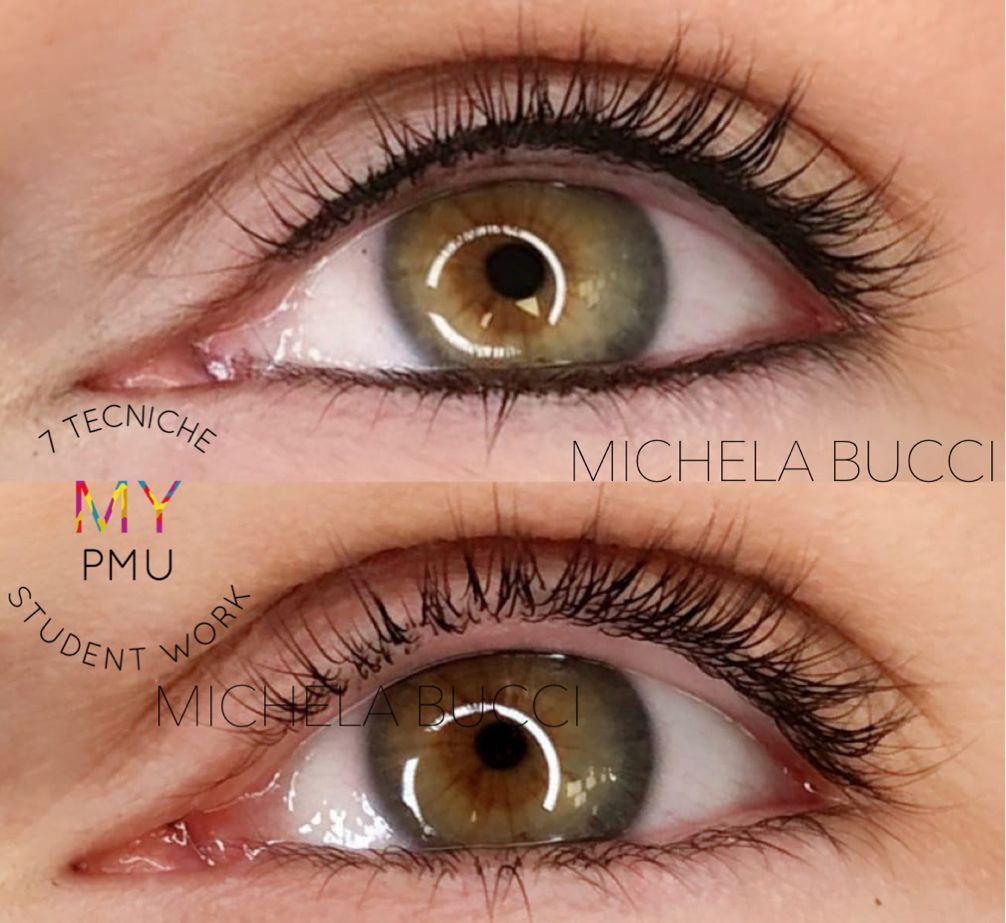 Lavoro allieve trucco permanente 7 tecniche Allieve-occhi (2)